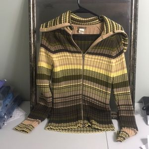 J Crew zippered ribbed sweater Sz S